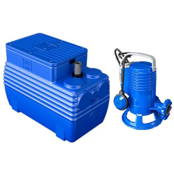 Picture of ELETTROPOMPA TRITURATRICE KW 0,74 GR BLUEPRO 100 VOLT 220 CON VASCA BLUEBOX 250 LITRI ZENIT
